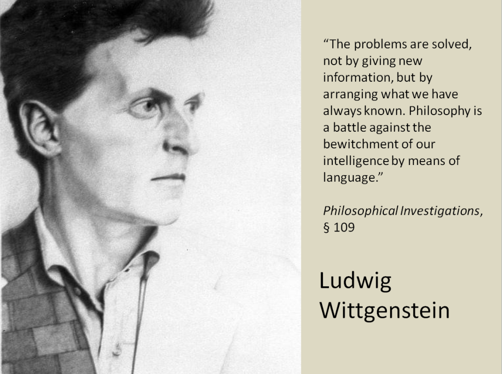 Wittgenstein quote 1024x764 The Experience Library: Handout and slide set